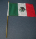 Mexico Country Hand Flag - Medium (stitched).